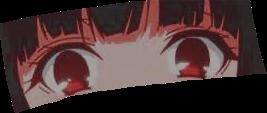 anime animeeyes eyes eye animeeye yumekojabami jabami yumeko kakegurui marysaotome red redeyes aesthetic lightskin black blackhair hair lashes eyebrows blush pink white orange cute girl freetoedit