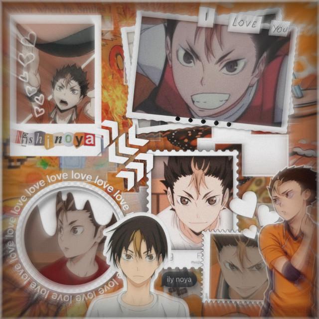 ~~~~~~~~~~~~~~~~~~  Anime:  Haiykuu Character: Nishinoya yuu   ~~~~~~~~~~~~~~~~~~~     #freetoedit #nishinoya #noya #noyahaikyuu #haikyuu #haikyu #anime #animeedit #background #collage #animecollage #mangacollage #aesthetic #orange