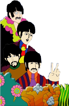 thebeatles art music beatles stickers stickerart collage yellowsubmarine edits peace groovy groovyaesthetic freetoedit