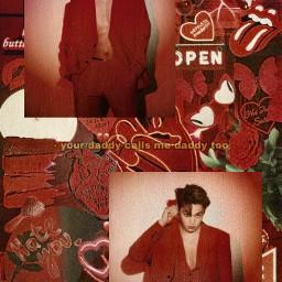 kai kaiexo kimjongin jongin kim exo kpop wallpaper aesthetic red aestheticwallpaper wallpaperaesthetic wallpaperkpop exo-l kpopaesthetic freetoedit