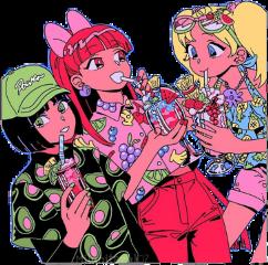 laschicassuperpoderosas laschicassuperpoderosas♥️ bombon burbuja bellota lassupernenas thepowerpuffgirls blossom bubbles buttercup kawaii kawaiicute powergirl💥 powergirl ppg celeste rojo verde anime animegirls freetoedit