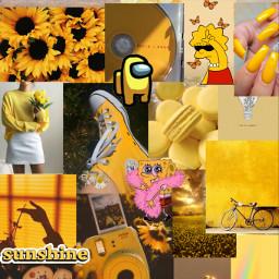 yellow aesthetic yellowaesthetic amongus carebear freetoedit