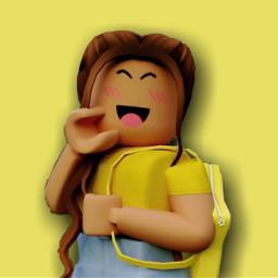 roblox robloxedit robloxedits robloxgirl robloxgirls robloxart robloxgfx robloxgfxedit gfx gfxedit girl girls cute beautiful yellow amarelo longhair brownhair schoolbag mochila happy feliz alegria felicidad felicidade freetoedit