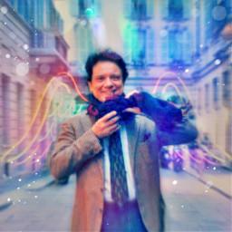 massimoranieri angelwings neon vintageaesthetic citywalk bokeh fanart freetoedit