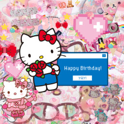 freetoedit echappybirthdayhellokitty happybirthdayhellokitty hbdhellokitty