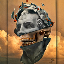 surrealart surreal surrealism picsartedit visual_creatorz heypicsart fauspre madewirhpicsart madebyme myedit editbyme craneoart skullart skull frame darkart interesting crazyedit freetoedit