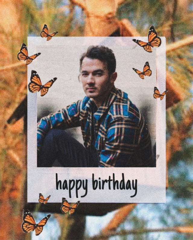 Happy birthday Kevin Jonas! Hope you have a fantastic day full of happiness and love from your whole family and all your fans. I made this edit because it symoblizes growth in a person. The background is a birdhouse which is a little reference back to Kevin's disney channel days and the butterflies represent new life and growth. Kevin, you have grown a lot in your career and your life. You really deserve to have the best birthday ever!  #happybirthday #kevinjonas #kevinjonasedit #jonas #camprock #polaroidframe #butterflies