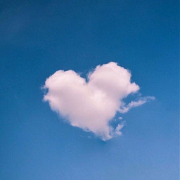freetoedit heart cloud inthesky dreamy bluesky whiteheart
