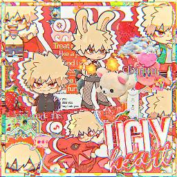 bakugou bakushima kiribaku bakugoukatsuki chibi red aesthetic anime manga bokunoheroacademia myheroacademia complexedit art femboy bakuhoe cute kawaii overlay overlayedit