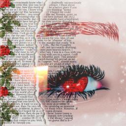 fanart eyesred eyes rosered text write flowers cute fanarteye freetoedit srcfrommyheart frommyheart