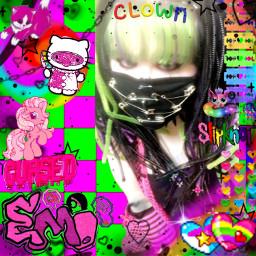 emo goth clown freetoedit