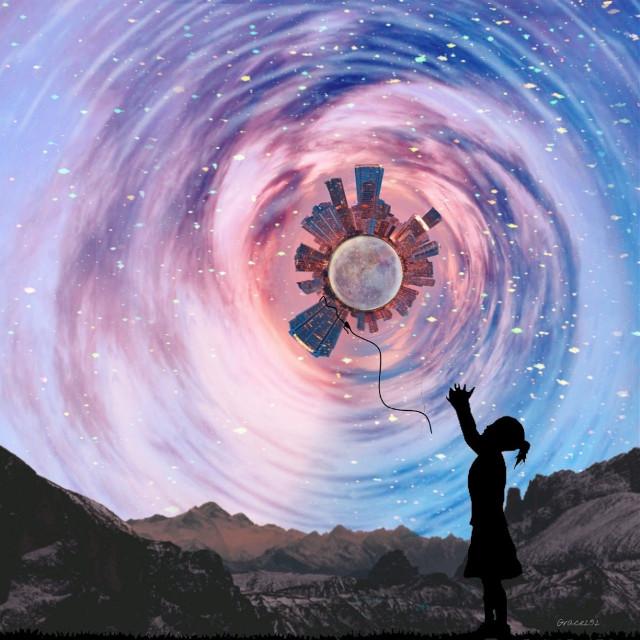 #doubleexposure #tinyplaneteffect #glitter #watereffect #lunar #landscape #woman #silhouette @freetoedit @avilta @hongsup71