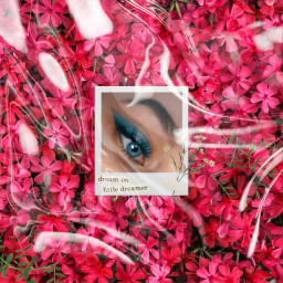 eyes flowers freetoedit