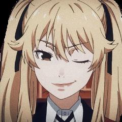 mary marysaotome saotome kakegurui yumeko gambling gamble girl female woman cute beautiful anime animegirl blonde eyes mouth lips nose ear lightskin japan manga marykakegurui yumekojabami freetoedit