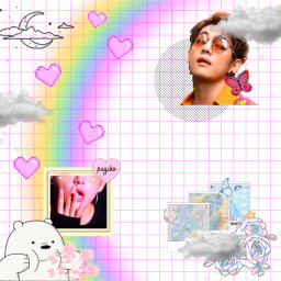 bts taehyung outline outlines outlineaesthetics saturation rainbow freetoedit