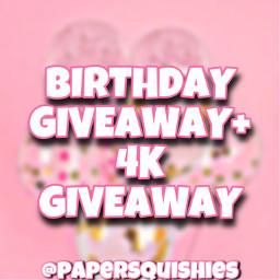 freetoedit giveaway repost birthday comment tag follow pink aesthetic balloons 4kfollowers papersquishy interesting art crafts fonts picsart