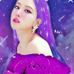 fanartofrose rose blackpink roseblackpink galaxy galaxyedit edit freetoedit sarangheyo hairedit butterfly