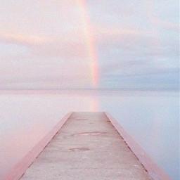 walkway dock bridge pink sea water sky pastelcolors background skybackground freetoedit