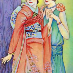 japan kimono artnouveau nostalgic 1920s 1920sfashion