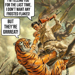 frostedflakes tonythetiger cereal cute freetoedit
