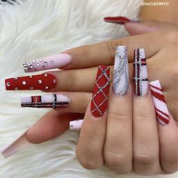 nails nailz nailtutorial snapchat screenshot red rednails glitter glitternails nailswag nailsart nailart nailsdesign nailspassion nailsnailsnails nails2inspire nailstyle longnails