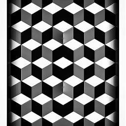 optical illusion cubes pattern monochrome