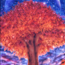 freetoedit madewithpicsart remixit trees nature field girl reading colourful planets surreal space stars sky clouds starrysky moon loneliness solitude