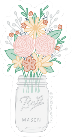 flowers boquet bells glass cup pink green yellow white grey red orange aesthetic sticker vsco freetoedit