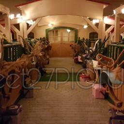 schleich picture modelhorse riding cute stable stall winter wintertime weinachten weinachtzeit lichterkette