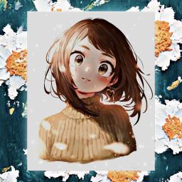 uraraka ochako ochakouraraka urarakachako cuteuraraka kawaiiuraraka freetoedit