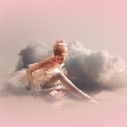 heypicsart ballerina clouds romantic pink butterfly myedit madewithpicsart picsarteffects freetoedit