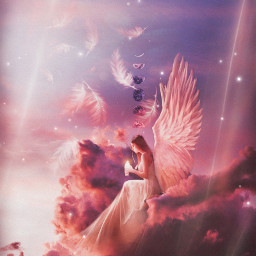 angel moonlight magical lovely freetoedit