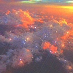 freetoedit clouds sky sunset glitters