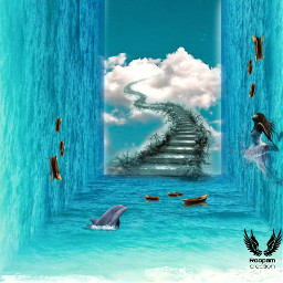 makeawesome heypicsart surrealist sea paradise fairy water editbyme myedited freetoedit unsplash