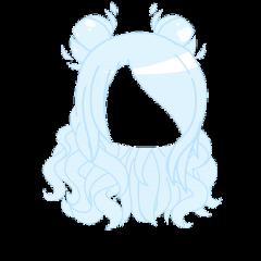 blue pastel baby curly cute buns adorable kawaii aesthetic gacha life gachalife club anime japanese hair ice winter girl gachaclub freetoedit