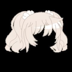 blond pastel platinum light blonde desaturated gacha gachalife gachaclub club life hair hairdo cutie cute adorable japanese kawaii twintails scrunchies pigtails short freetoedit