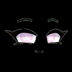 face gacha gachalife gachaclub club life eyebrows mouth cute pink eyes hearts kawaii anime adorable happy smile smiling girl freetoedit