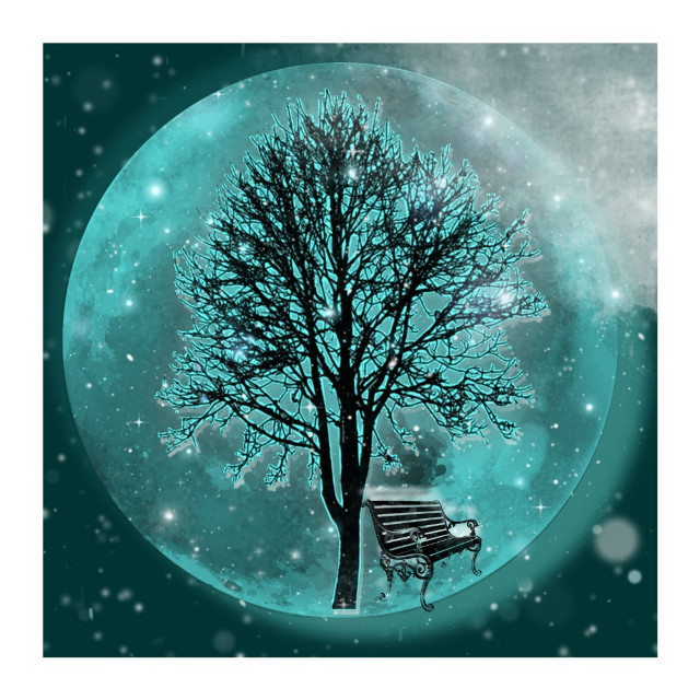 #moon #dream #magicalplace #romantic #snow #winter
