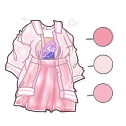 gachaclub gachalife store gacha clothes gachaoutfit outfit pink uwu owo cute asethetic anime jacket skirt shirt girl boy iredescent sparkly shiny drawing ibispaint freetoedit