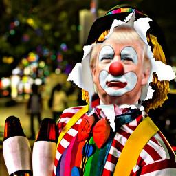 trump clown freetoedit unsplash ectornpapereffect tornpapereffect