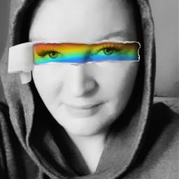 rainboweyes rippedpaper freetoedit ectornpapereffect tornpapereffect