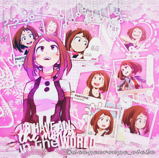 "Hey, I'm sorry for the break but here I am with a new edit for you. This time it's Ochako Uraraka💞 . . . ••••••••••••••••••••••••••••••••••   ☆𝔄𝔫𝔦𝔪𝔢/𝔐𝔞𝔫𝔤𝔞: My Hero Academia  ☆ ℭ𝔥𝔞𝔯𝔞𝔠𝔱𝔢𝔯: Ochako Uraraka💖  ☆ H𝔢𝔯𝔬 𝔑𝔞𝔪𝔢: Uravity💫  ☆ ℭ𝔬𝔩𝔬𝔲𝔯/𝔗𝔥𝔢𝔪𝔢: light pink  .....  𝓉𝒶𝑔𝓁𝒾𝓈𝓉:  @_galaxy_fury @tellthemnaegi @chess-edits @-panta_gremlien- @rainych- @victorias_cosplay @24kfeelings @justa_simp @jupiterroses @-boxed-jxice @cynthiajsjsj @orqngecreqm @ultimate-kyoka @manutrucha @sugarrbby @juusiuhqwq @mizu_1608 @ultimatedrfan @animeweeb_uwu- @lunerfrappe @-melted_mondo- @hikqchiin @kayabelle_moon @souwuda_tanaka @psychoweeb @madammomo @im-u_g_l_y @grquplqve @poisonseditss @alaanime_16 @gaang_edits @awhami @-neko_lucy- @dedep_depp @bee_coz @xxmiss_animexx @niquedudes @athy_chan  ✨💞love you guys💞✨  Comment ""🐥"" to be in my taglist Comment ""🍃"" to get out of my taglist Comment ""🌸"" if you changed your username   ⚠️ Don't steal my edit⚠️ . . . ••••••••••••••••••••••••••••••••• ~tags: #ochakouraraka #ochako #ochakoedit #ochakourarakaedit #ochakoururaka #edit #edits #anime #animegirl #animeedits #animeedits💞 #myheroacademia #myheroacademiaedit #myheroacademiaochakouraraka #bokunoheroacademia #bokunoheroacademiaedit #bokunoheroacademiaochacouraraka #bnha #bnhaedit #bnhaochako #bnhaochacouraraka #mha #mhaedit #mhaochako"