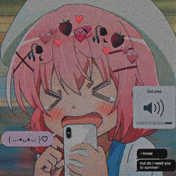 aesthetic aestheticedit anime pinkhair crybaby cryinggirl little message volume volumeiphone phone crown blush red pink japan nature night profilepic freetoedit