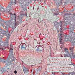 freetoedit aesthetic pink ghosts animegirl animeicon animeedit phone pinkhair profilepic night japan nature lollipop crown hearts