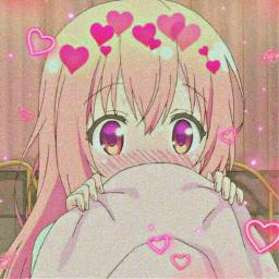 kawaii cute love little anime japan night nature shy heart crown animeaesthetic animegirl animeedit animeicon girl pink aesthetic freetoedit