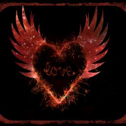 love heartwithwings freetoedit picsart ecneonwings neonwings