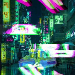 freetoedit green neonb neoncity wallpaperedit wallpaperaesthetic greenaesthetic city