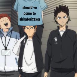 haikyuu hinata shoyo iwachan iwa volleyball hajimeiwaizumi oikawa ushijimawakatoshi shiritorizawa tendou anime freetoedit