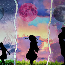 conpetiton girl growingup moon clouds rip freetoedit ecintheclouds intheclouds