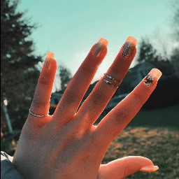 freetoedit cool blue sky nails picsart trees nature outside walking thankyou yay smile love rings accessories daisysquad ridaphotography picture viral